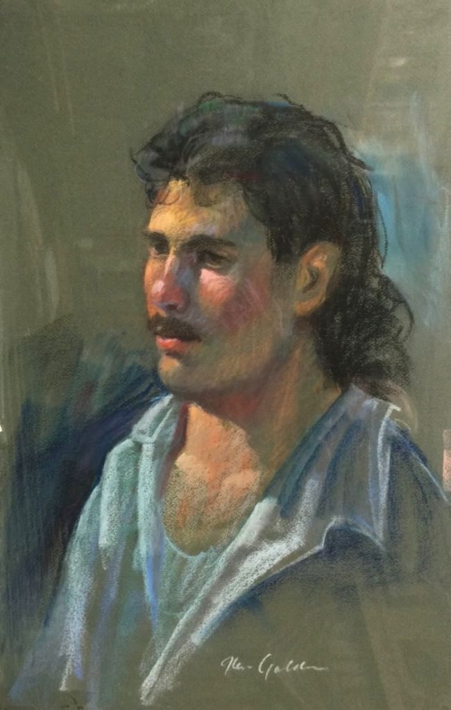 Ken Goldman_Pastel_Portrait Study 1, 18x12