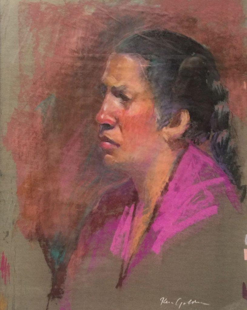 Ken Goldman_Pastel_Portrait Study 2, 18x12