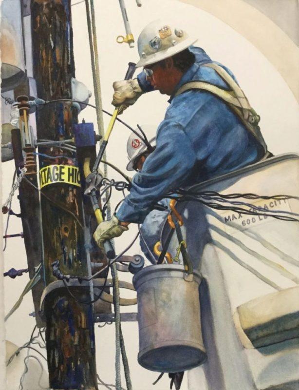 Ken Goldman_Space and Line 4_Watercolor_30x22