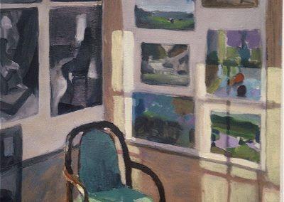 kengoldmanfineart-Studio Corner-Acrylic-Still Life-24x18 - SOLD