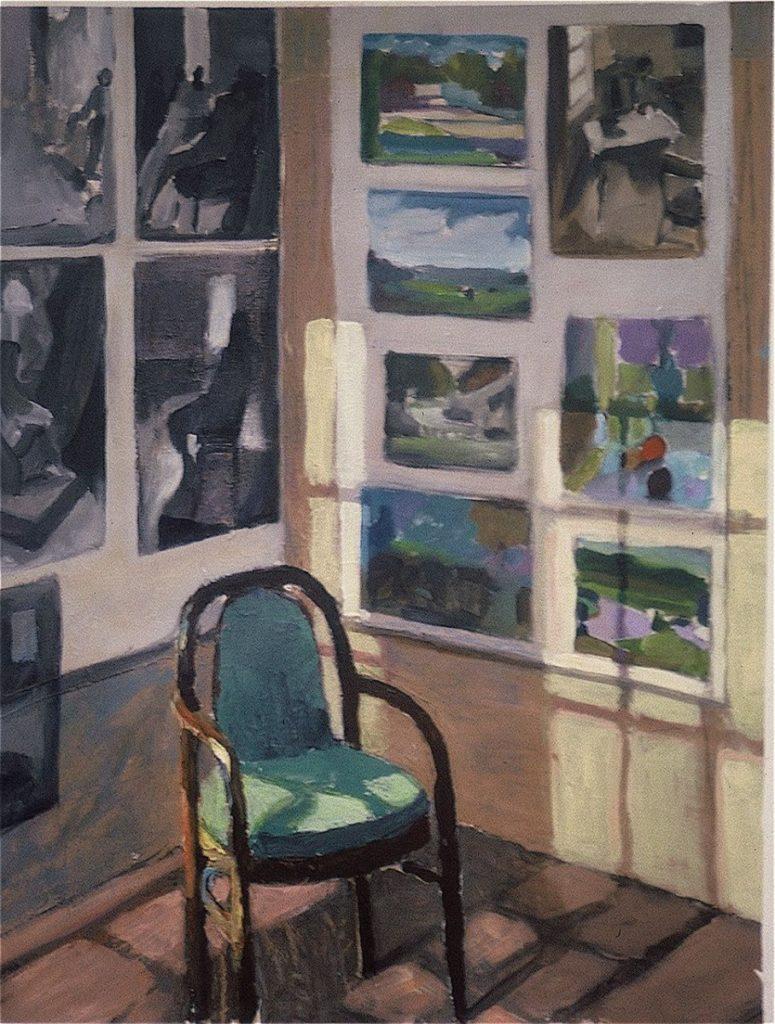 Ken_Goldman-Studio Corner-Acrylic-Still Life-24x18 - SOLD