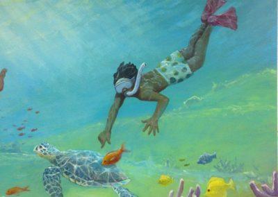 Rady Cardiology Underwater Mural detail 5