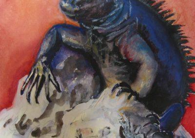 stephaniegoldmanfineart_Galapagos Lizard 2_7x6