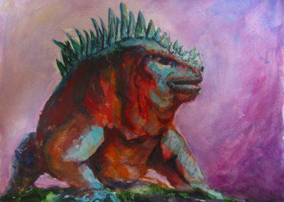 stephaniegoldmanfineart_Galapagos Lizard_8x6