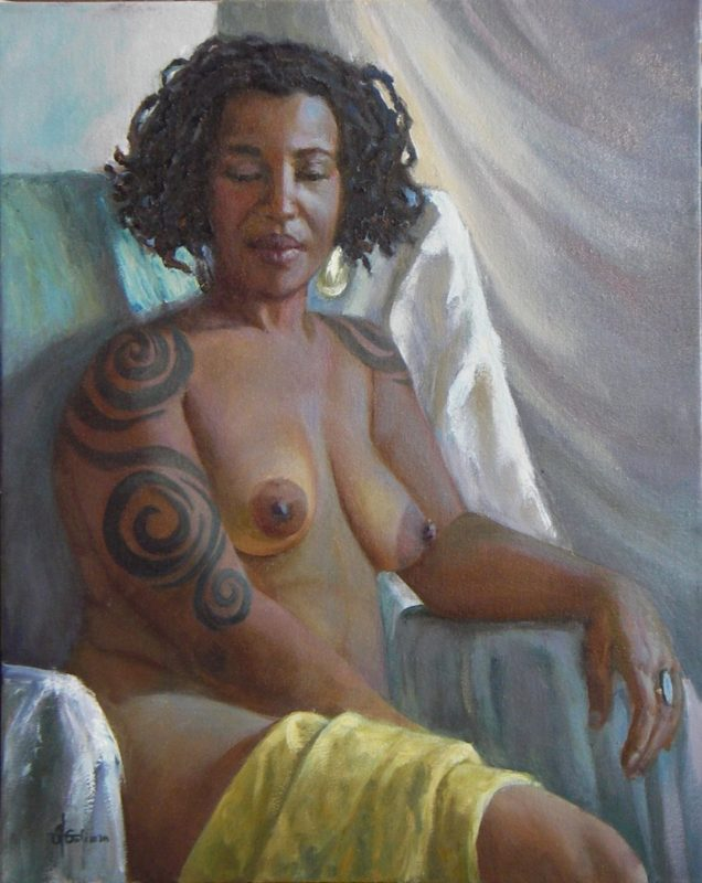 Stephanie Goldmanfineart_Jasmine-oil on canvas-20x16