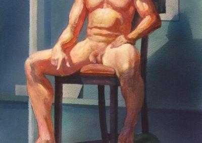 stephaniegoldmanfineart_Male Nude_Watercolor_23x15