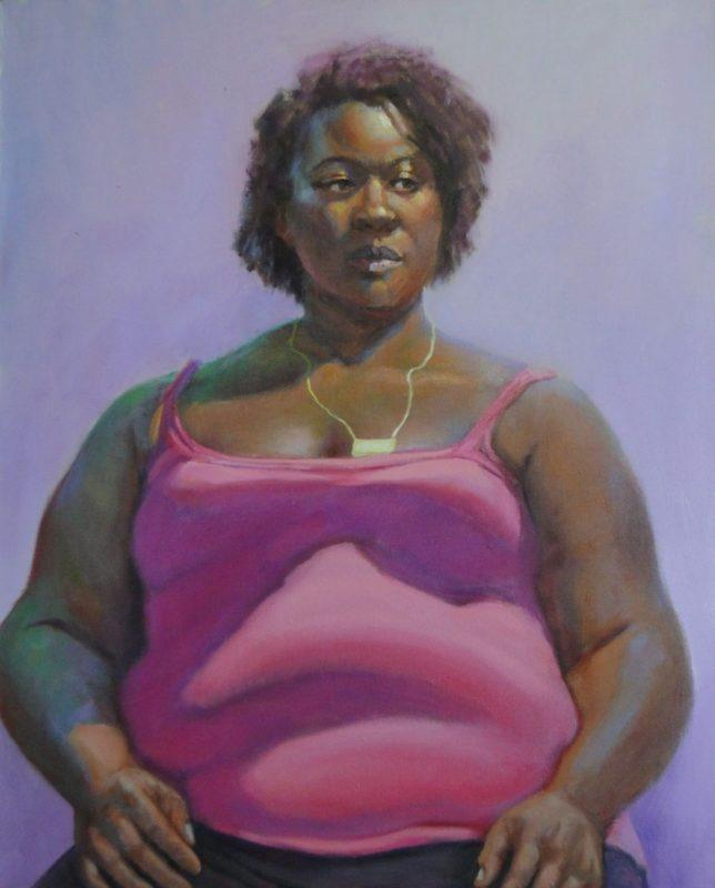 Stephanie Goldmanfineart_Niki_Pink -Oil 36x30