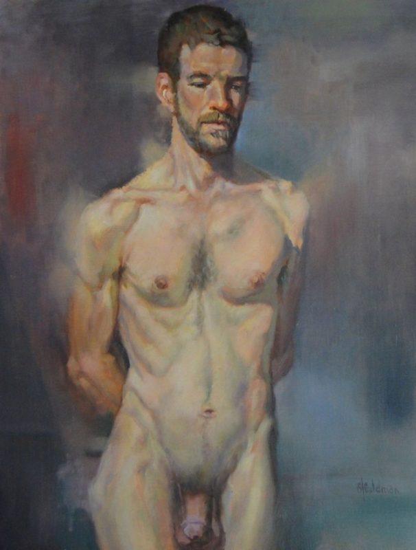 Stephanie_Goldman_Artist Model (Series 1), Oil 24x18 Sold