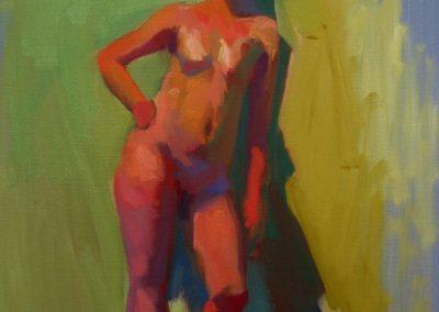 stephaniegoldmanfineart_Shanks Figure Color Study, Oil 20x16  - SOLD