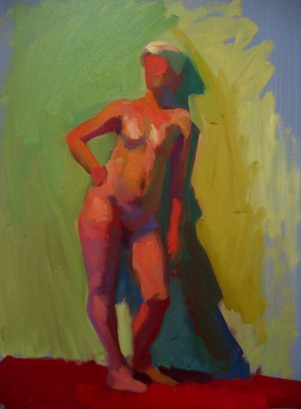 Stephanie Goldmanfineart_Figure Color Study, Oil 20x16 Sold