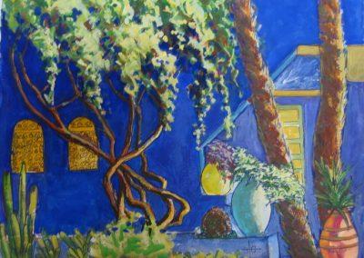 stephaniegoldmanfineart_jardin Marjorelle Garden_11x14_SOLD