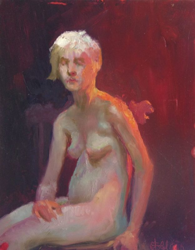 Stephanie Goldmanfineart_Figure Color Study, Oil 20x16 - SOLD