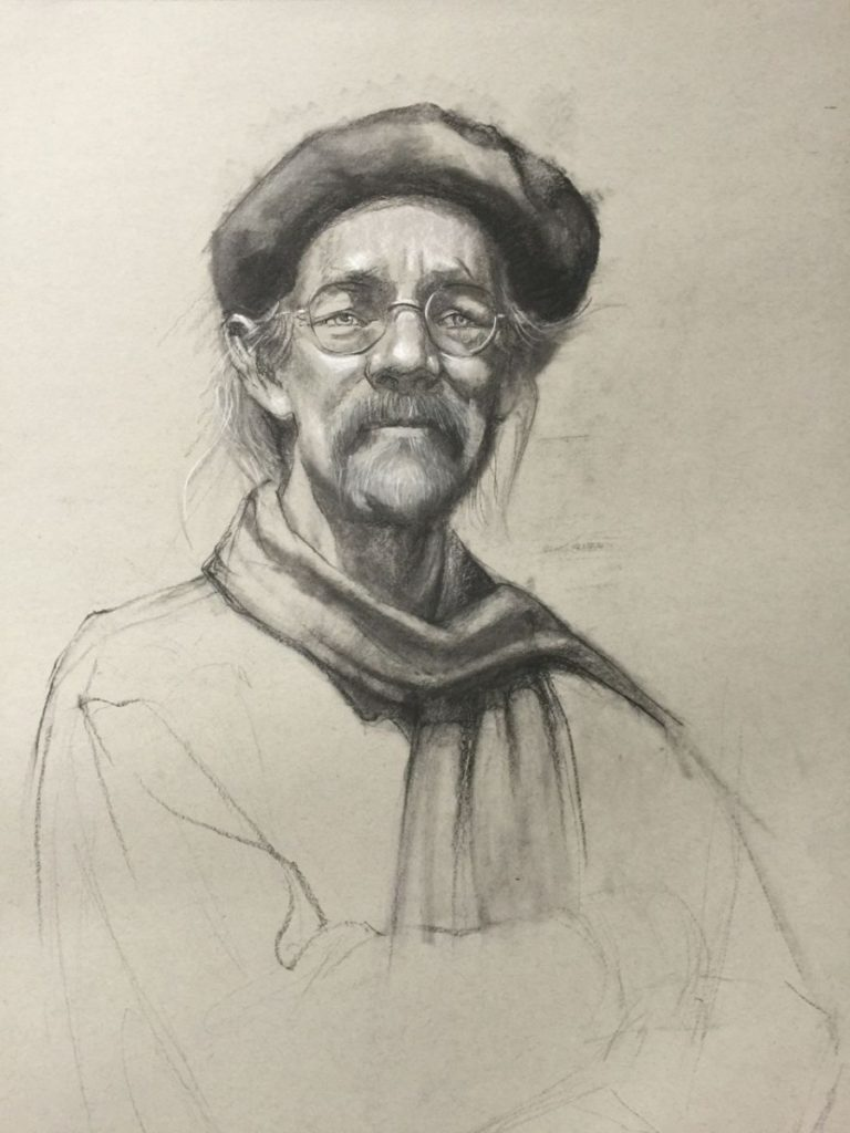 stephanie_goldman_van_charcoal drawing 24x18