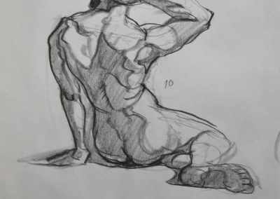 kengoldmanfineart-Gestures-Charcoal Drawing-24x18