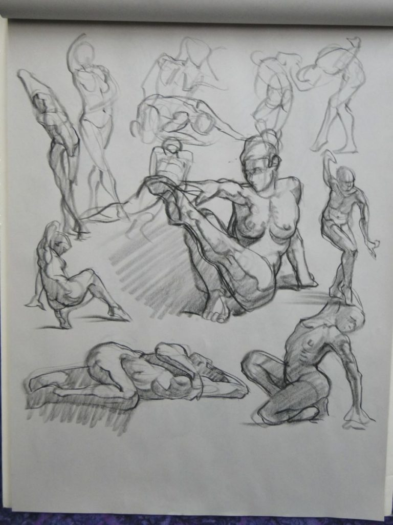 Ken_Goldman-Gestures-Charcoal Drawing-24x18