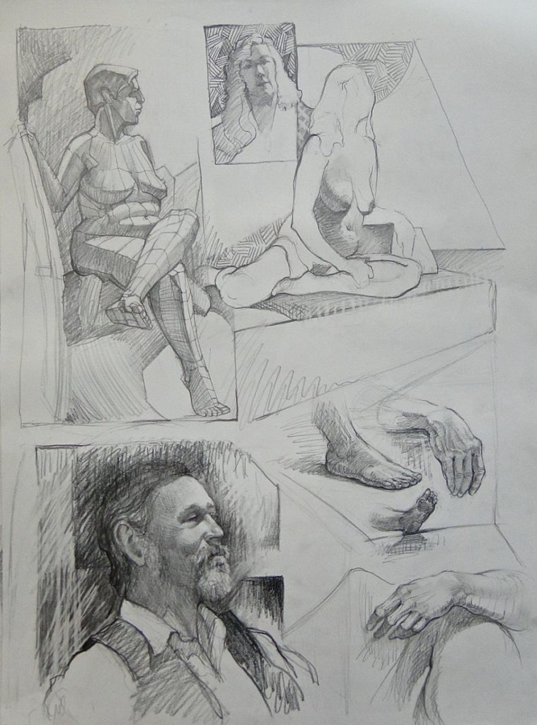 Ken_Goldman_Graphite_Figure Drawing_18x24 - Giclees Available