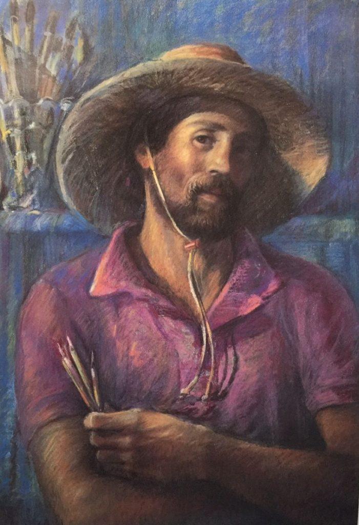 Ken Goldman_Pastel portraits_ Self Portrait @ 40, 40x30 - SOLD