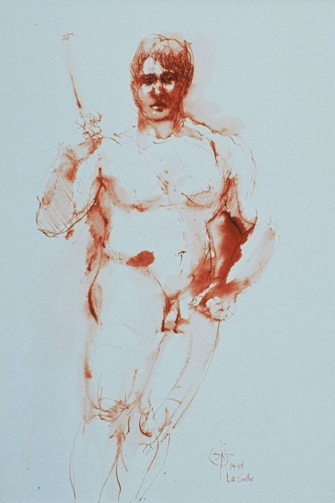 Stephanie_Goldman_Watercolor_Sanguine Ink-Male Figure 10x8
