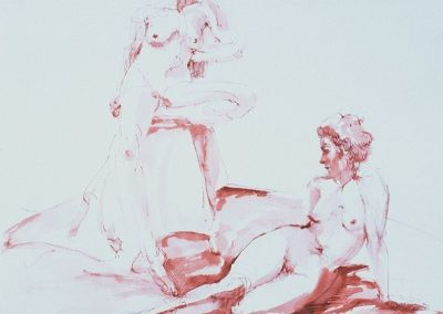stephaniegoldmanfineart_Two-Figures_Pen-and-Sanguine-Ink_10x8