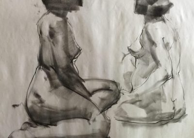 stephaniegoldmanfineart_Figure Drawing, Charcoal, 24x18