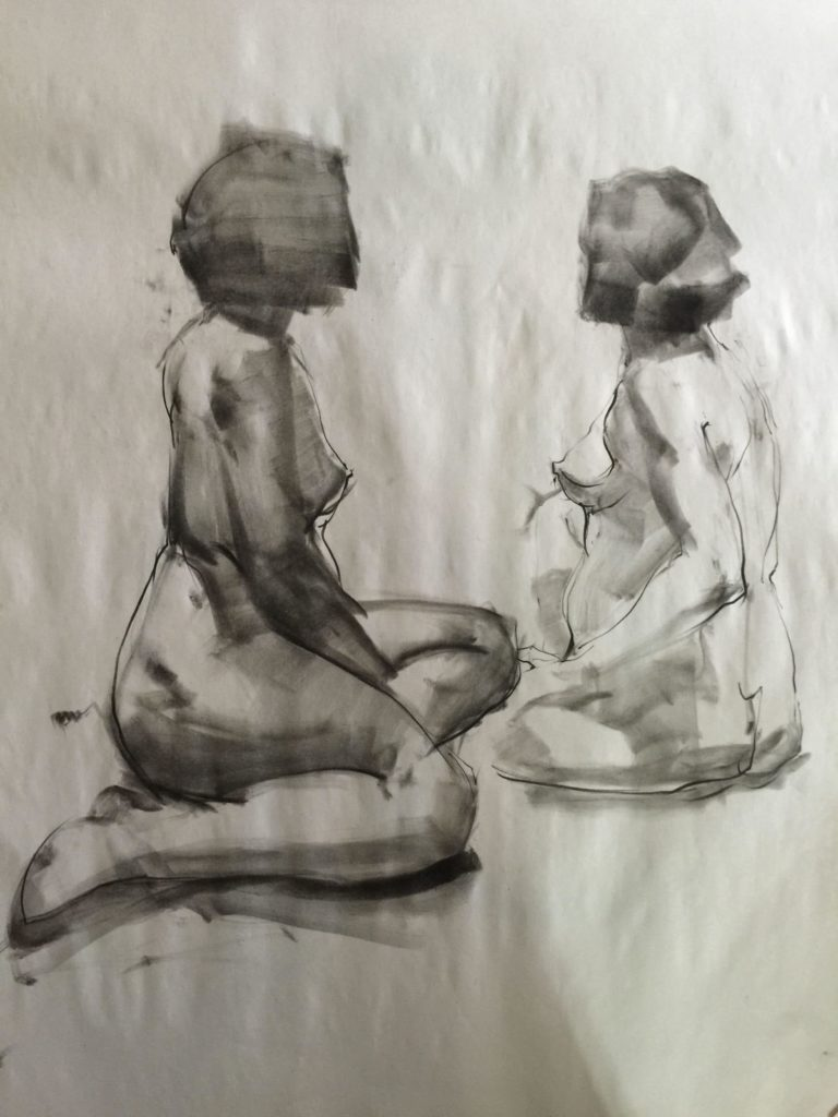 Stephanie_Goldman_Figure Drawing, Charcoal, 24x18