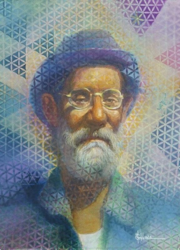stephanie_goldman_Blue Hat_Watercolor _16x12