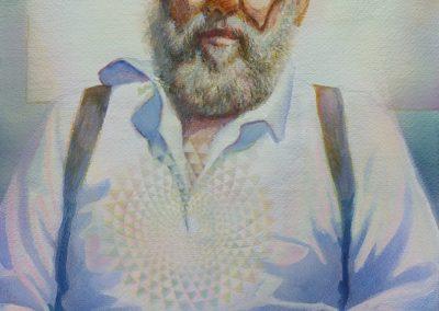 StephanieGoldmanfineart_Seated Man_Watercolor_56x38cm