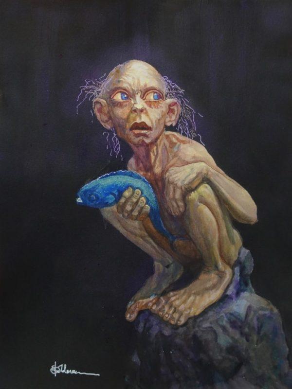 stephaniegoldmanfineart_Gollum_16x12