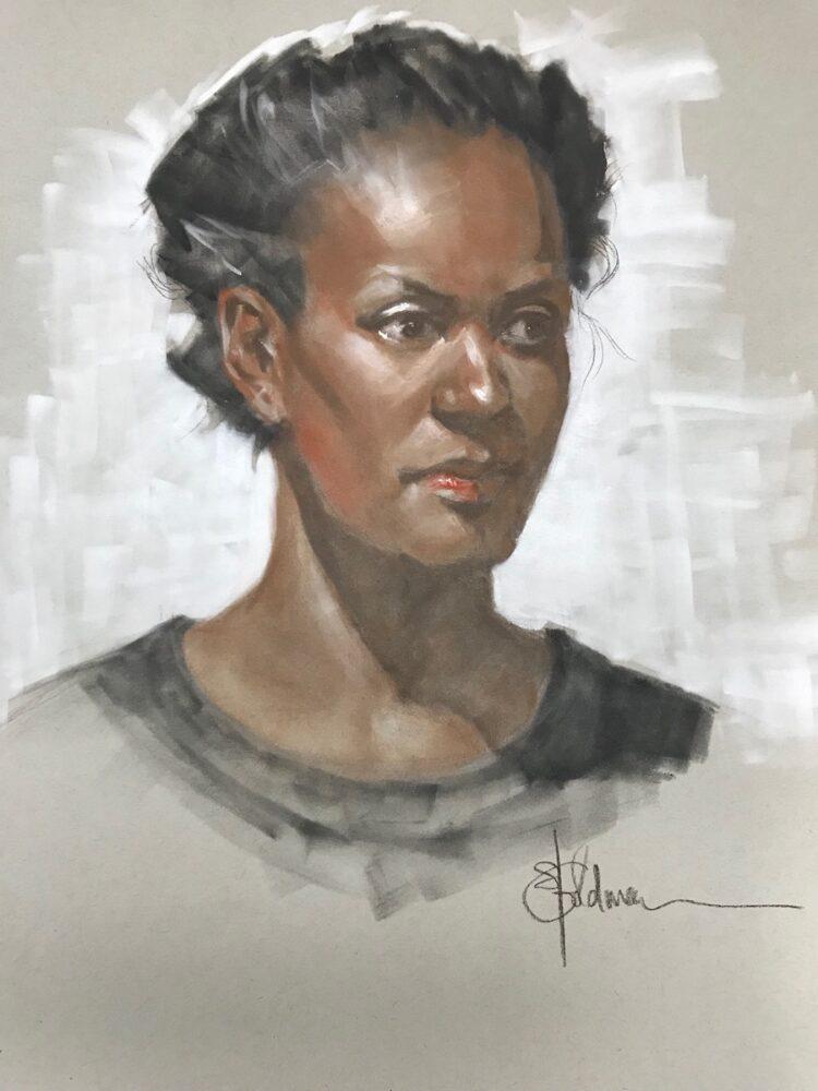 Stephanie Goldmanfineart_Trois-crayon technique_24x18