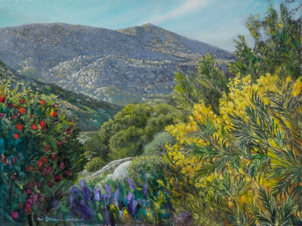 Ken Goldmanfineart_Chaparral Spring_Acrylic on paper_22x30