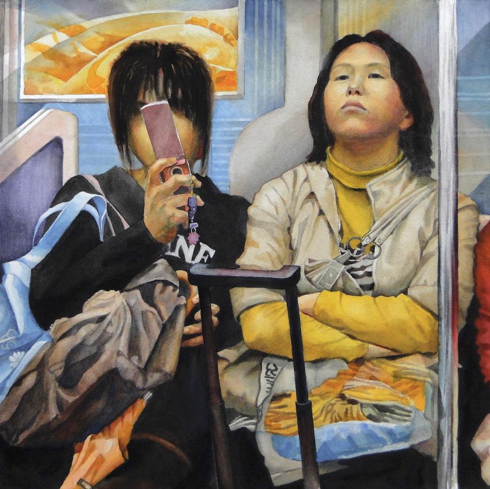 Ken Goldmanfineart_Elsewhere_Watercolor_22x22