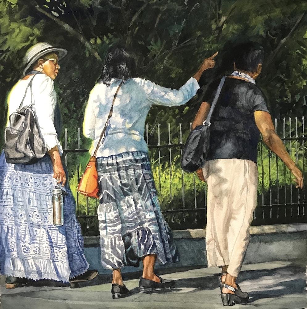 Ken Goldmanfineart_Praise_Watercolor_22x22