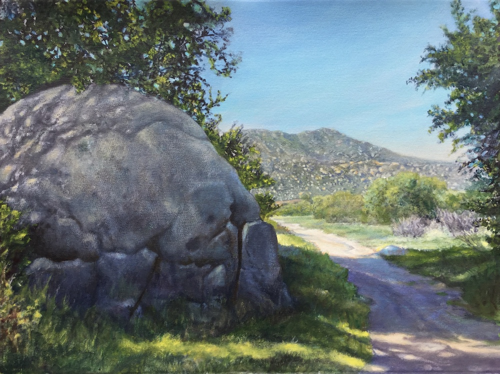 Ken Goldmanfineart_Pathway to Mt. Kuchumaa, Acrylic on Arches WC Paper_22x30