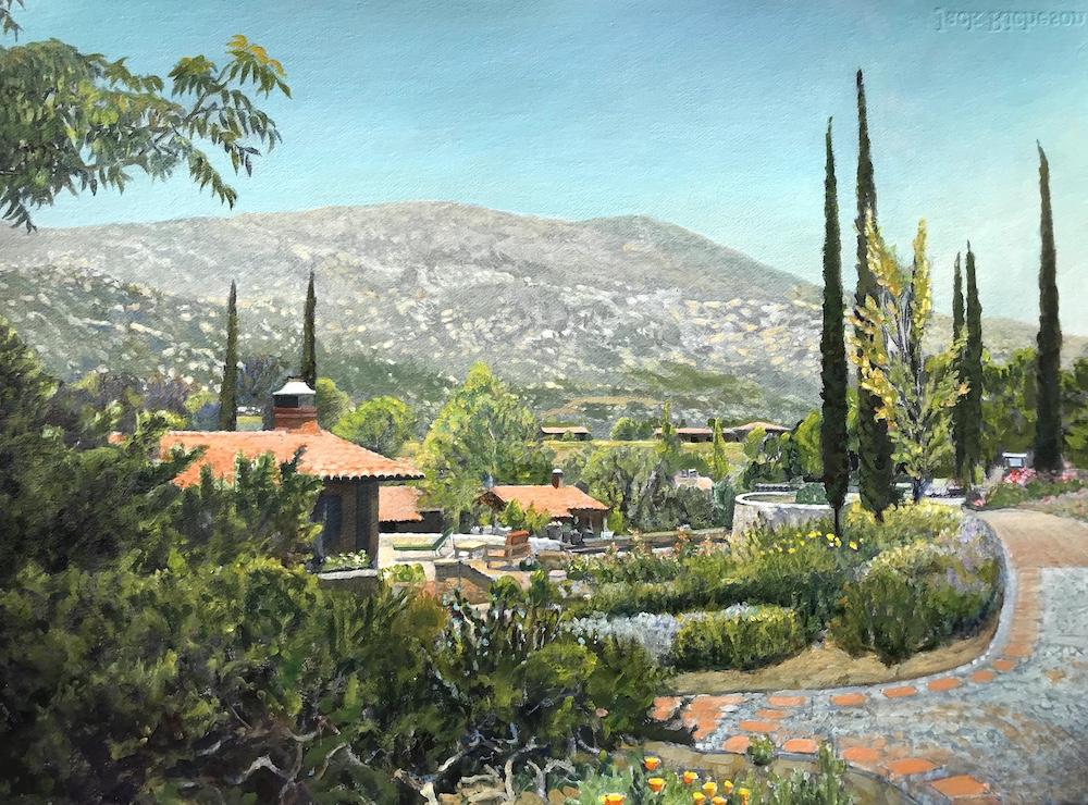 Ken Goldmanfineart_Rancho La Puerta_Acrylic on Arches WC Paper_22x30