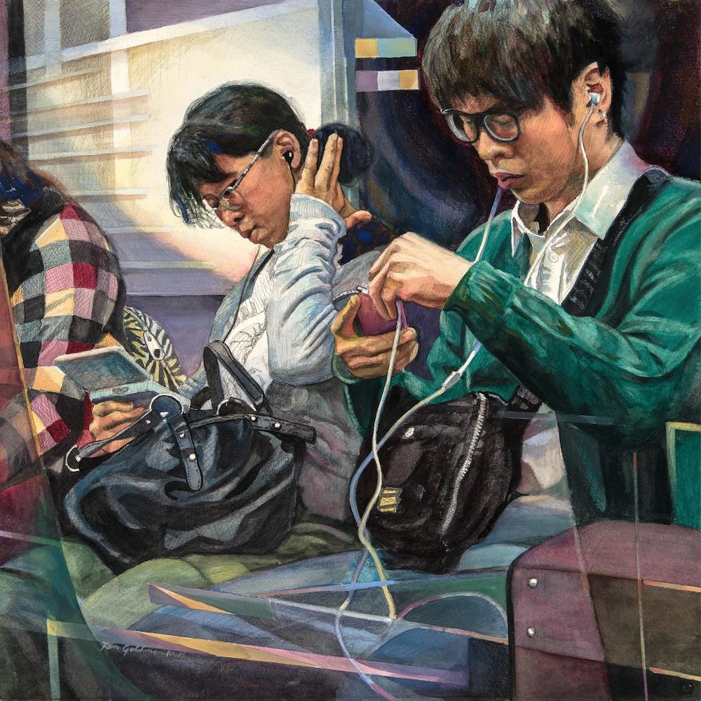 Ken Goldmanfineart_So Far Apart 6_Watercolor, 22x22
