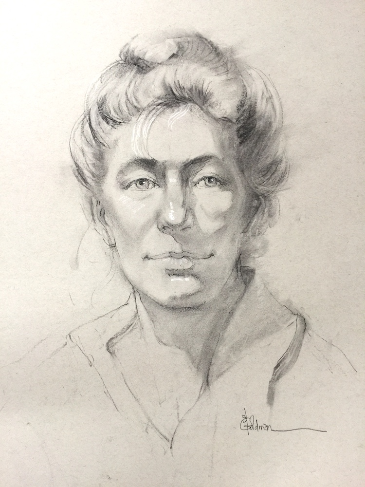 stephanie goldmanfineart_Portrait sketch_Charcoal_24x18