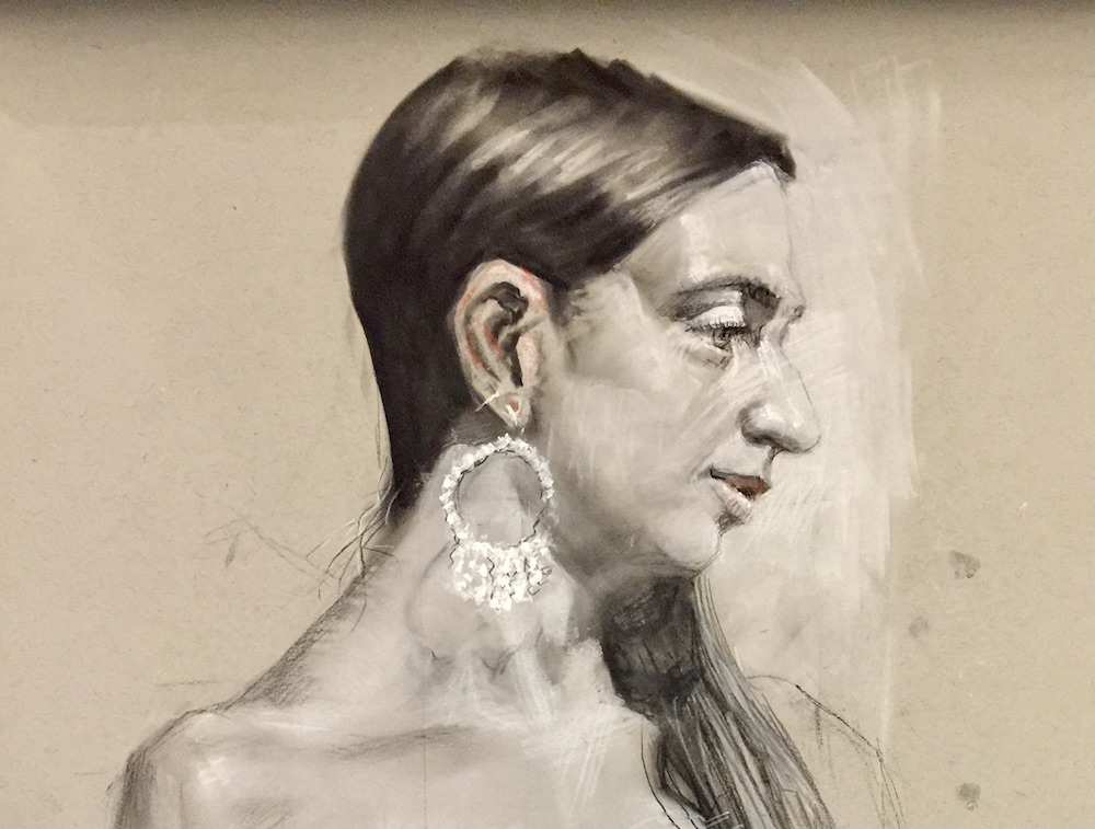 stephanie goldmanfineart_zara sketch 24x18